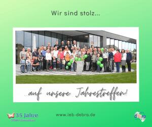 35 Jahre IEB DEBRA Deutschland – Wir sind stolz auf unsere Jahrestreffen