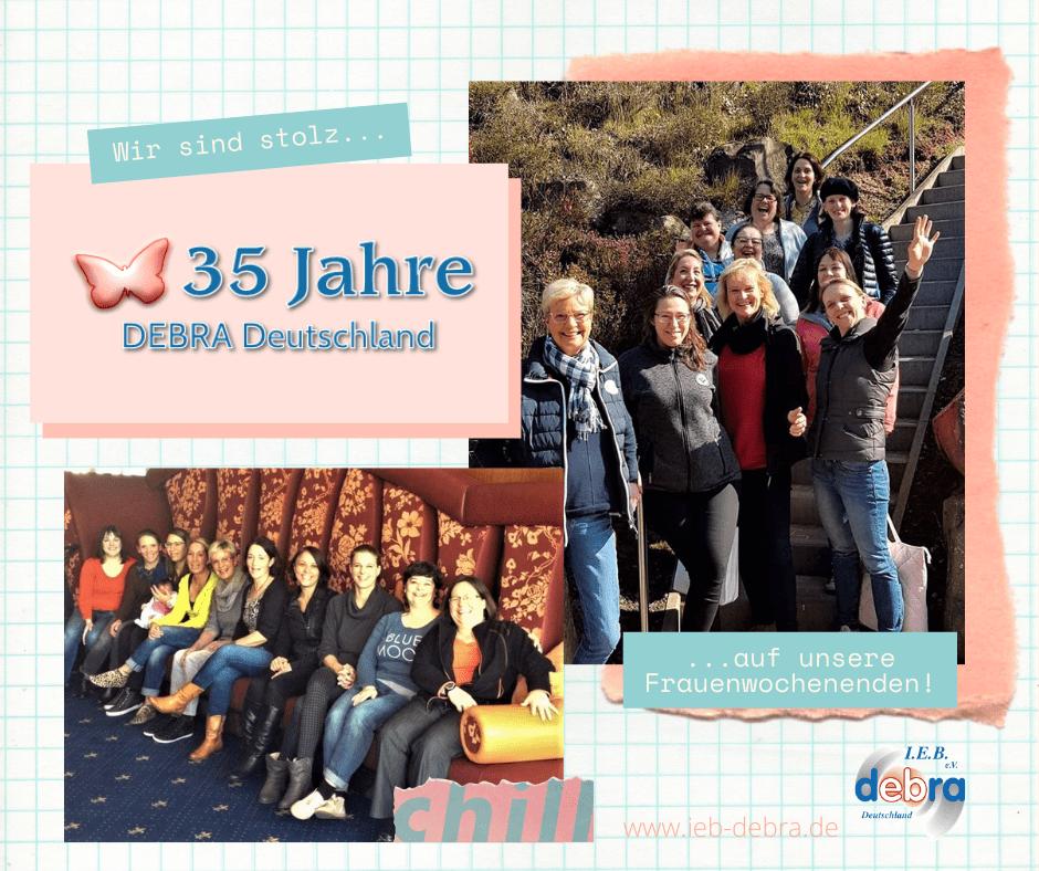 35 Jahre IEB DEBRA Deutschland – Wir sind stolz auf unsere Frauenwochenenden