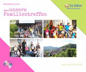 35 Jahre IEB DEBRA Deutschland – Wir sind stolz auf unsere Familientreffen