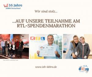 35 Jahre IEB DEBRA Deutschland – Wir sind stolz auf unsere Teilnahme am RTL-Spendenmarathon